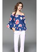 preiswerte Bluse-Damen Solide T-shirt, V-Ausschnitt Seide