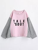 cheap Boys' Clothing-Girls' Geometric Tee, Cotton Fall Long Sleeves Blushing Pink