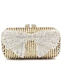 Χαμηλού Κόστους Ρούχα χορού της κοιλιάς-Γυναικεία Τσάντες Μεταλλικό Βραδινή τσάντα Φιόγκος(οι) / Κρυστάλλινη λεπτομέρεια Χρυσό / Κρύσταλλο Βραδινά Τσάντες Κρυστάλλινα