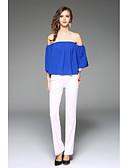 abordables Camisas y Camisetas para Mujer-Mujer Playa Camiseta, Escote Barco Un Color / Verano