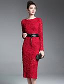 preiswerte Damen Kleider-Damen Hülle Kleid - Blume, Solide Midi