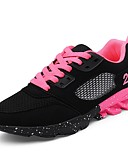 cheap Men's Hoodies & Sweatshirts-Women's Shoes Tulle Spring / Fall Comfort Athletic Shoes Walking Shoes Platform Lace-up Black / Pink