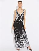 baratos Vestidos Femininos-Mulheres Tamanhos Grandes balanço Vestido - Camadas, Quadriculada Com Alças Longo