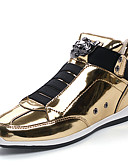 cheap Men's Jackets & Coats-Men's PU(Polyurethane) Spring / Fall Comfort Sneakers Gold / Black / Silver