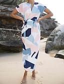 povoljno Ženske haljine-Žene Korice Haljina - Print V izrez Maxi