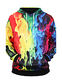 cheap Men's Shirts-Men's Weekend Long Sleeves Hoodie - 3D Print Hooded