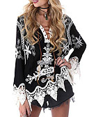cheap Women's Blouses-Women's Casual Loose Blouse - Paisley Print V Neck