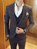 זול חליפות-Houndstooth משובץ מידות גדולות חליפות - בגדי ריקוד גברים