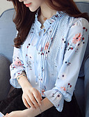 cheap Women's Blazers & Jackets-Women's Work Blouse - Floral Stand / Spring / Fall / Fine Stripe