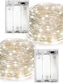 levne Šaty pro družičky-7m Světelné řetězy 100 LED diody Teplá bílá / R GB / Bílá Voděodolné Baterie / IP65