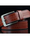 baratos Cintos de Moda-Homens Estampado Liga, Cinto para a Cintura - Retro Estampado Jacquard