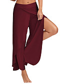 cheap Leggings-Women's Active Loose / Wide Leg / Sweatpants Pants - Solid Colored High Rise / Split