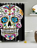 cheap Women's Dresses-Shower Curtains & Hooks Polyester Skull Hand Made