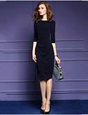 cheap Women's Dresses-Women's Plus Size Street chic Bodycon Trumpet/Mermaid Dress - Solid Colored