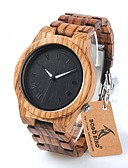 cheap Luxury Watches-Men's Wrist Watch Quartz Water Resistant / Water Proof Chronograph Wood Band Analog Charm Luxury Casual Brown - Black