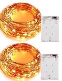 رخيصةأون هدايا المساند للحضور-5m أضواء سلسلة 50 المصابيح ضد الماء بطارية / IP65