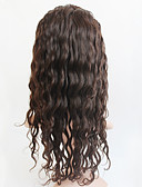 cheap Bridesmaid Dresses-Human Hair Full Lace Wig Brazilian Hair Curly Wig 120% With Baby Hair Women's Medium Length Human Hair Lace Wig