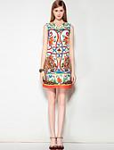 cheap Women's Dresses-Mary Yan & Yu Women's Street chic A Line Dress - Floral / Leopard