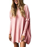 cheap Women's Sweaters-Women's Basic Batwing Sleeve Loose Blouse - Solid Colored