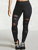 cheap Fashion Belts-Women's Shredded Legging - Mesh, Solid Colored Mid Waist