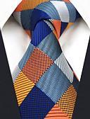 זול עניבות ועניבות פרפר לגברים-עניבת צווארון - קולור בלוק / משובץ דמקה / סרוג בסיסי עבודה / יום יומי בגדי ריקוד גברים
