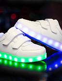 preiswerte Brautjungfernkleider-Jungen Schuhe PU Herbst Winter Leuchtende LED-Schuhe Sneakers LED für Normal Draussen Weiß Schwarz