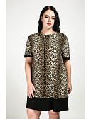 cheap Women's Dresses-Cute Ann Women's Plus Size Shift Dress - Leopard