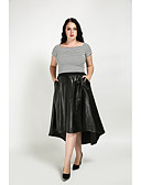 cheap Women's Tops-Women's Holiday Street chic Plus Size A Line Skirts - Solid Colored