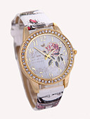 cheap Quartz Watches-Women's Wrist Watch Hot Sale Leather Band Charm / Fashion White / Red / Brown