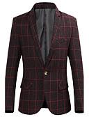 cheap Women's Sweaters-Men's Chinoiserie Plus Size Blazer - Plaid