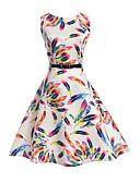 Χαμηλού Κόστους Φορέματα για κορίτσια-Παιδιά Κοριτσίστικα Λουλουδάτο Καθημερινά / Αργίες / Εξόδου Μονόχρωμο / Φλοράλ / Ουράνιο Τόξο Μισό μανίκι Βαμβάκι / Πολυεστέρας Φόρεμα Λευκό