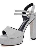 cheap Men's Underwear & Socks-Women's Shoes Glitter Spring / Summer Gladiator Sandals Chunky Heel Peep Toe Sparkling Glitter Gold / Silver / Party & Evening