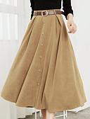 baratos Vestidos de Mulher-Mulheres Pêlo Sintético Balanço Saias - Sólido