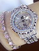 Недорогие Кварцевые часы-Жен. Дамы Эксклюзивные часы Diamond Watch Японский Кварцевый Нержавеющая сталь Серебристый металл / Золотистый 30 m Повседневные часы Аналоговый Кулоны Мода Bling Bling - Золотой Серебряный
