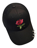 cheap Women's Hats-Women's Polyester Baseball Cap - Solid Colored Embroidered