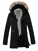 cheap Men's Downs & Parkas-Men's Slim Padded - Solid Colored