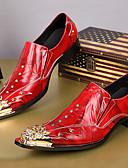 preiswerte Anzüge-Herrn Formal Schuhe Nappaleder Herbst / Winter formale Schuhe Loafers & Slip-Ons Rot / Party & Festivität