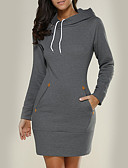cheap Women's Hoodies & Sweatshirts-Women's Holiday Slim Long Hoodie - Solid Colored / Fall / Winter