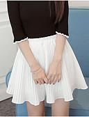 tanie Damska spódnica-Damskie Linia A Spódnice - Wyjściowe Solidne kolory / Lato