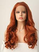 billige Damebukser-Syntetisk Lace Front Parykker Krop Bølge Syntetisk hår Natural Hairline Brun Paryk Dame Lang Blonde Front Lysebrun