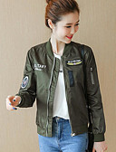 preiswerte Hemd-Damen - Buchstabe Jacke, Ständer Baumwolle Druck