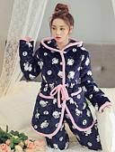 cheap Women's Scarves-Women's Cotton Hooded Pajamas - Print, Animal