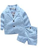 povoljno Kompletići za dječake-Dijete koje je tek prohodalo Dječaci Na prugice Dungi Dugih rukava Drugo Komplet odjeće Plava