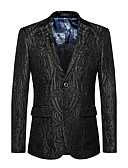cheap Women's Dresses-Men's Active Sophisticated Blazer-Solid Colored Notch Lapel / Long Sleeve