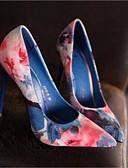 olcso Női ruhák-Női Cipő Bőr Tavasz / Ősz Kényelmes Magassarkúak Tűsarok Erősített lábujj Kék / Rózsaszín