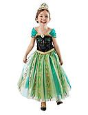 ieftine Gadgeturi de baie-Prințesă DinBasme Costume Cosplay Fete Cosplay de Film Verde Rochie Halloween An Nou Șifon Bumbac