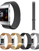 cheap Men's Hoodies & Sweatshirts-Watch Band for Fitbit ionic Fitbit Milanese Loop Metal Wrist Strap