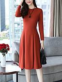 preiswerte Damen Kleider-Damen Übergrössen Ausgehen Grundlegend Schlank Hülle Kleid Solide Knielang