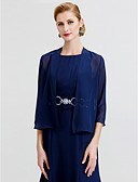 cheap Mother of the Bride Dresses-3/4 Length Sleeve Chiffon Wedding / Party / Evening Women's Wrap With Coats / Jackets