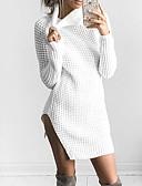 olcso Női pulóverek-Női Alkalmi Gyapjú Hosszú ujj Pulóver Egyszínű Állógallér / Ősz / Tél